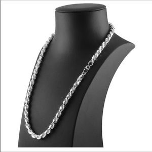 NWT... Sterling Silver Rope Chain